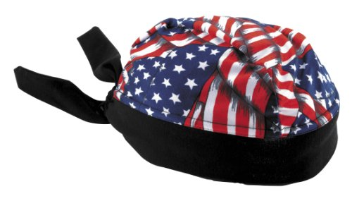 Schampa Stretch Headwrap American Flag One Size Fits All OSFA ()
