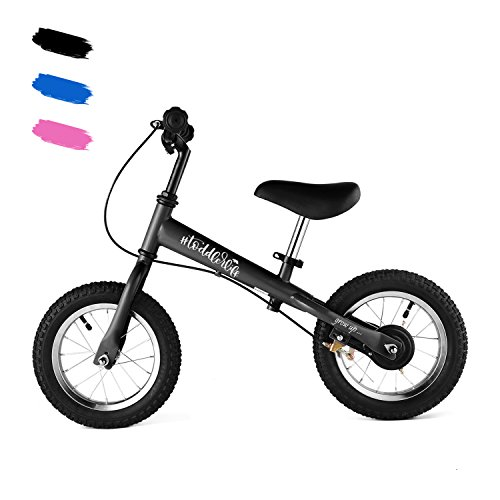 """Jaketen 12"""" Balance Bike No Pedal Walking Bicycle with Carbon Steel Frame, Adjustable Handlebar and Seat, 77lbs Capacity for Ages 1.5 to 5Years Old ()"""