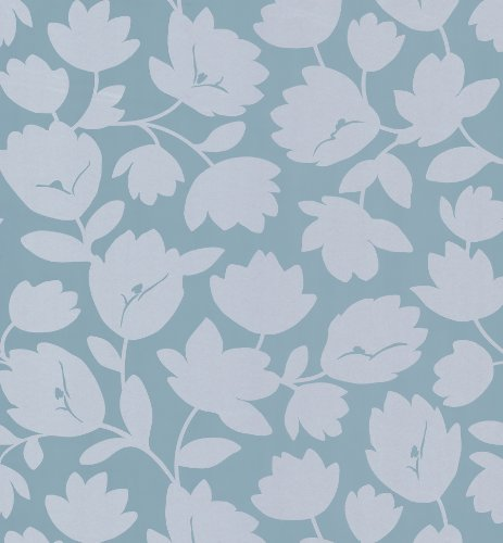 - Kenneth James 566-43945 Echo Design Freesia Light Grey Fun Floral Wallpaper