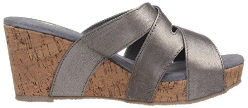 Pewter Leona Volatile Wedge Women's Sandal 6gBFwq6Y0