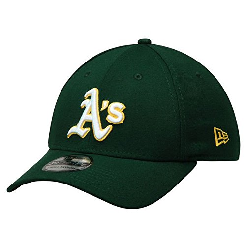 fan products of MLB Oakland Athletics Road Team Classic 39Thirty Stretch Fit Cap, Medium/Large, Green