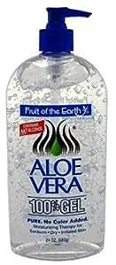 Fruit Of The Earth 100percent Aloe Vera 24oz Gel Pump
