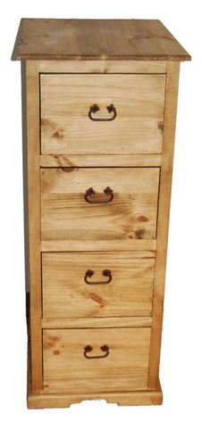 Rustic 4 Drawer File Cabinet by R&R