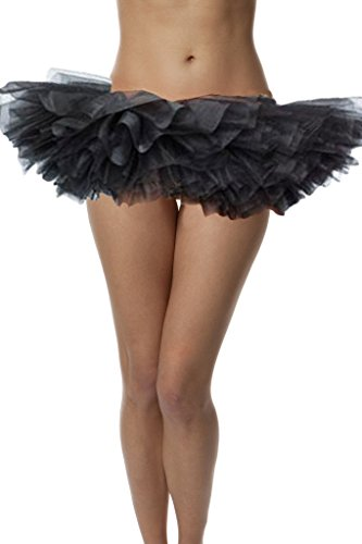 Adult Poofy Ballet Style Tutu for Holiday Costume, Princess Tutu, Ballet Tutu, Dance Outfit, or Fun Run Black -