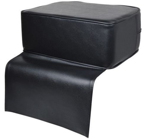 Seat Booster Cushion (JAXPETY Black Barber Beauty Salon Spa Equipment Styling Chair Child Booster Seat Cushion)