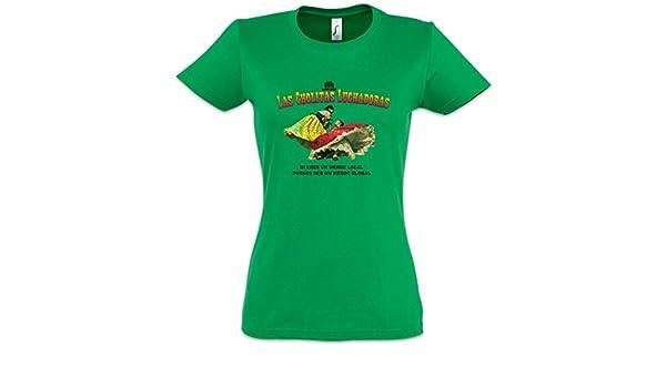 Urban Backwoods CHOLITAS LUCHADORAS Mujer Girlie Women T-Shirt - México Mexiko Wrestling Wrestler Mexican Mexico Latin Latino Luchadores Tamaños S - 3XL: ...