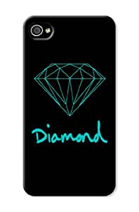 3d Patterned Diamond Phone Protection Case/cover/shell for Iphone 4/4s
