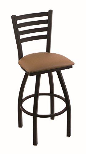 "Holland Bar Stool Co. 410 Jackie 36"" Bar Stool with Black Wrinkle Finish and Swivel Seat, Allante Beechwood"
