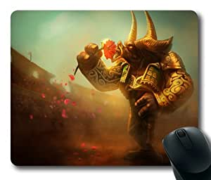 Game League of Legends Alistar Matador Skin Rectangle Mouse Pad by eeMuse by ruishername