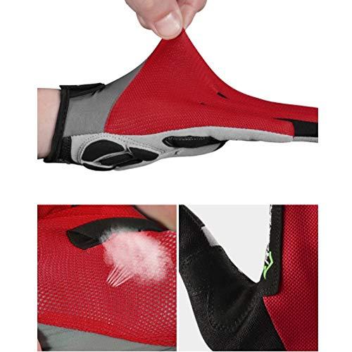 AINIYF Full Finger Gloves | Spring And Autumn Winter Full Fingers Gloves Touch Screen Anti-Slip Full Finger Motorcycle Gloves Cycling Equipment (Color : Black, Size : M) by AINIYF (Image #6)