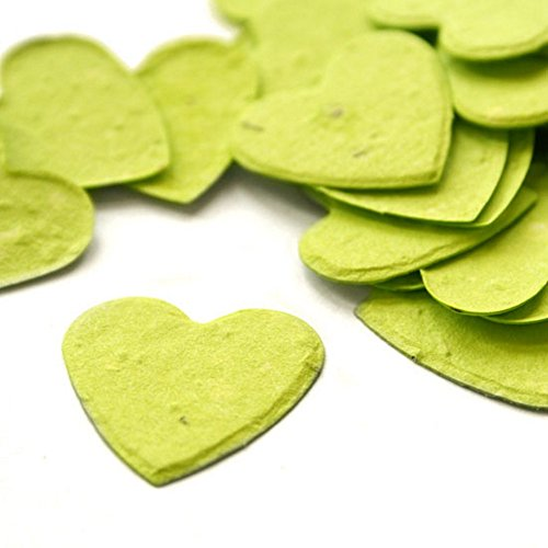 - Heart Shaped Plantable Seed Confetti (Lime Green) - 350 pieces/bag