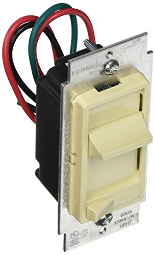 Slide Dimmer Switch 3 Way - Leviton L01-06633-PLI Decora 3-Way Slide Dimmer with Preset, Lighted Pad Option, Ivory