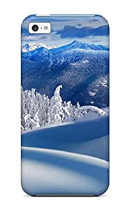 Iphone 5c Case Cover - Slim Fit Tpu Protector Shock Absorbent Case (pristine Winter)