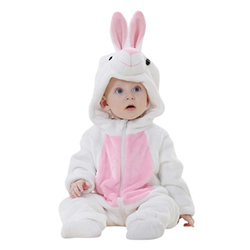 Soy Milk Costume (Toddler Newborn Baby Boys Girls Animal Cartoon Hooded Rompers Outfits Clothes (12M, G))