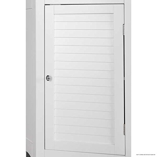 Modern Adjustable Bayfield Shutter Door Corner Floor Cabinet White Finish by Elegant Home Fashions (Image #1)