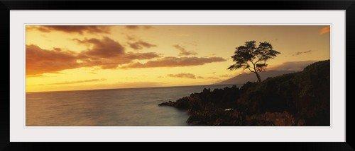 GreatBIGCanvas ''Hawaii, Maui, Wailea Point'' Entitled Photographic Print with Black Frame, 48'' X 16'' by greatBIGcanvas