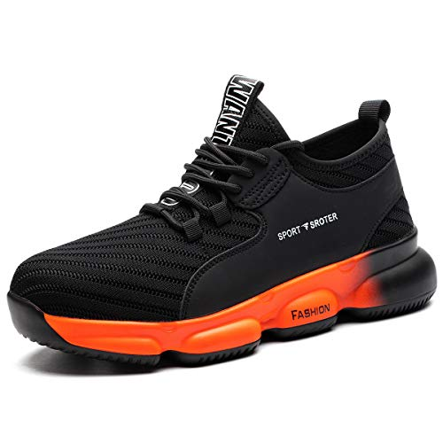 SROTER Safety Shoes for Men Women Steel Toe Trainers Lightweight Work Shoes Women Soft Breathable Industrial Sport…