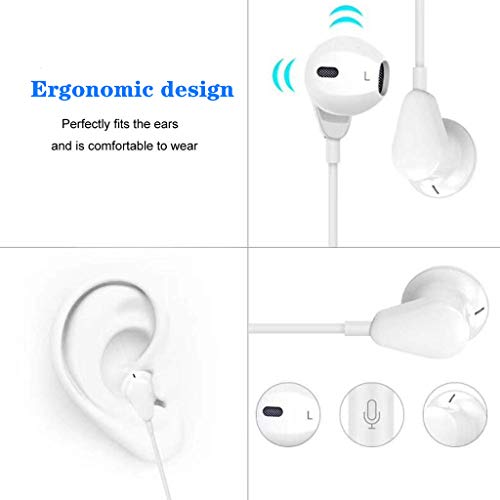 【2Pack】 3.5mm Headphones,Aux Earphones,Headphones with Microphone and Volume Control Compatible with Phone 6,pad…