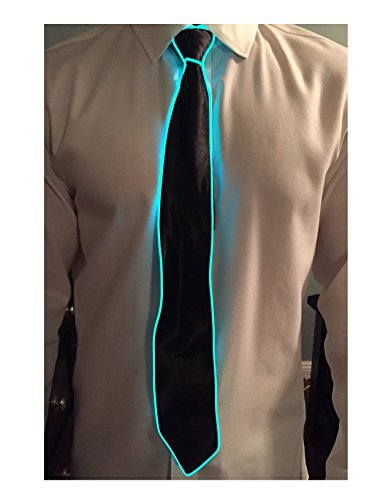 [GlowTies LED Ties Costume Accessory for Halloween / Rave Party Gear Clothing (Green)] (Light Up Costumes For Adults)