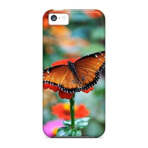 CADike DUuQIPI3346Jdvht Case Cover Iphone 5c Protective Case Butterfly Flower