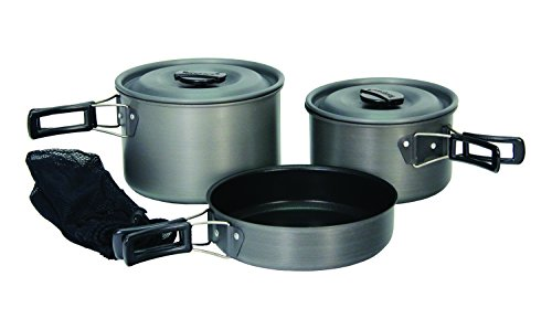(Texsport Hiker Black Ice Hard Anodized Compact Outdoor Camping Cookware Cook Set)
