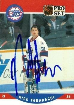 Rick Tabaracci autographed Hockey Card (Winnipeg Jets) 19...