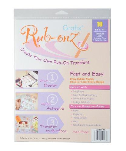 Grafix Clear Rub-onz 8-1/2-Inch by 11-Inch Inkjet-laser Film, (Rub Ons)