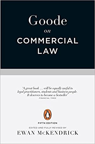 Fifth Edition Goode on Commercial Law