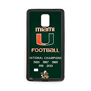 Onshop Custom NCAA Miami Hurricanes Champions Banner Phone Case Laser Technology for Samsung Galaxy Note 4 Laser Technology