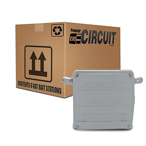 Protecta EVO Circuit Rat Bait Station 1 Case/ 6 Stations (GRAY) by Rockwell