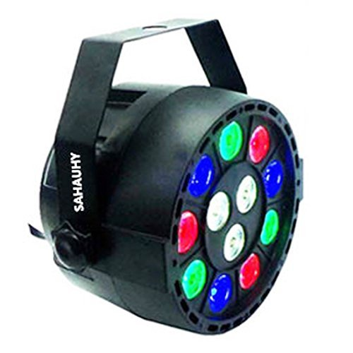 Par Lights,SAHAUHY RGBW Up Lighting 12 Leds Stage Lights Sound Activated DMX512 Color Mixing ()
