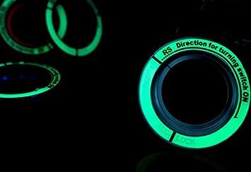 Auto-Styling Fluoreszenz licht schl/üsselloch Kreis Leucht Z/ündschloss Abdeckung F/ür Ford Focus 2 3 4 MK2 3 4 ST Mondeo Fusion blue