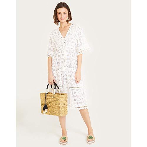 Vestido Midi Renda-Off White-P