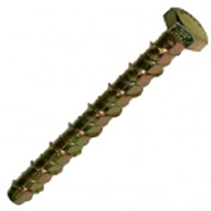 LIGHTNING THUNDERBOLT HEXAGON HEX HEAD CONCRETE BOLT M16 X 150MM PACK OF 4