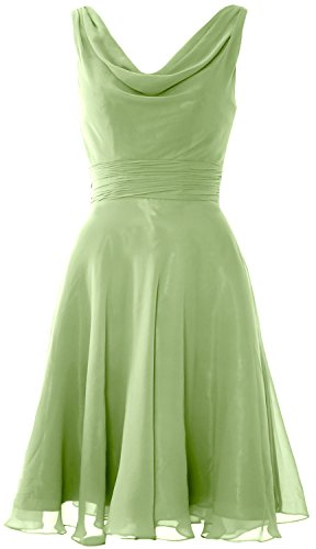 Macloth Wedding Bridesmaid Gown Cocktail Party Short Neck Dress Cowl Women Clover QWxoBreEdC