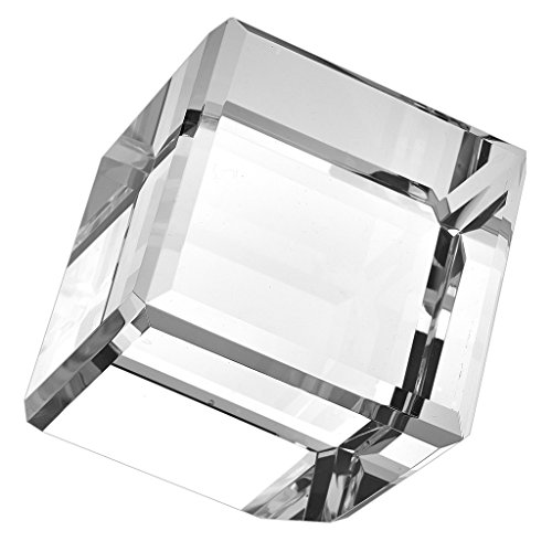Badash - Crystal Cube Paperweight On Corner H6