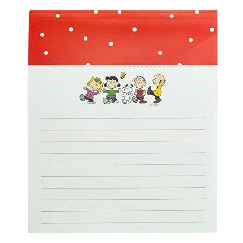 Graphique Peanuts Gang Jotter Notepad, Pad of Paper w/ 250 Tearable Ruled Pages Featuring Cute Snoopy and Gang Design, Great for Kitchen Counters, Nightstands, Desks, and More, 4.5
