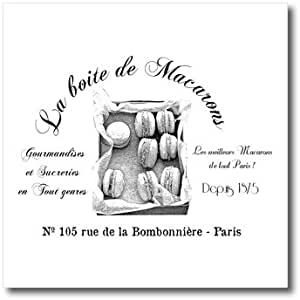 ht_164658_3 PS Vintage - French Macarons Vintage - Iron on Heat Transfers - 10x10 Iron on Heat Transfer for White Material