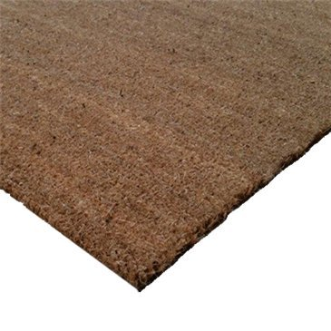 Cactus Mat 800R-78 Cocoa Brush 6 1/2' x 40' Natural Tan Scraper Floor Roll - 5/8'' Thick by Cactus Mat
