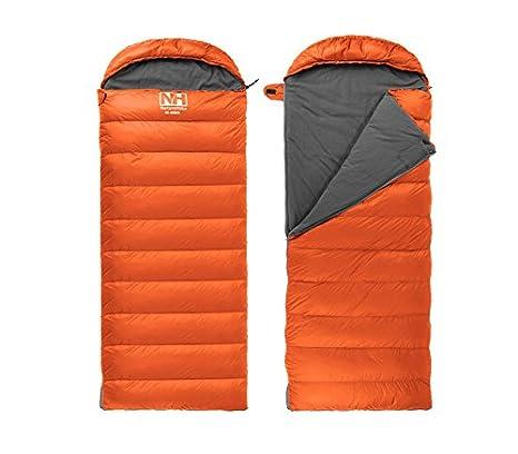 natural Hike Sleeping Bag Camping Saco de dormir Outdoor Down Sleeping Bag momia poligonal afsacke, Unisex, naranja: Amazon.es: Deportes y aire libre