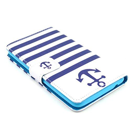 PowerQ [para Samsung Galaxy S3I9300–�?4] PU Funda Serie bolsa Modelo colorido con bonito hermoso patrón de impresión Impresión Dibujo monedero de la cartera de la cubierta móvil del bolso del teléfo 40