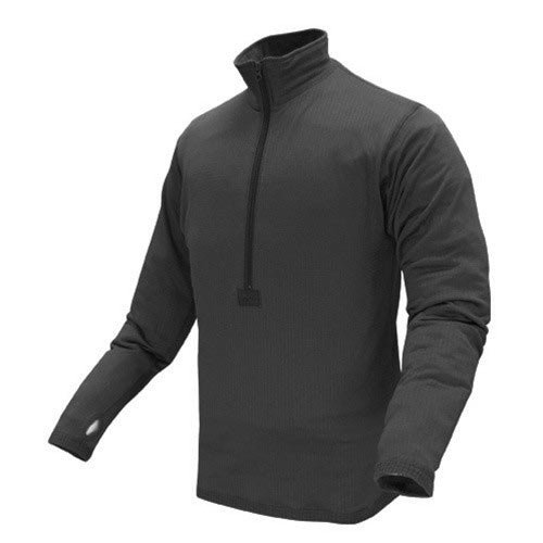 Condor BASE II Zip Pullover (Large, Black) (Pullover D Micro)