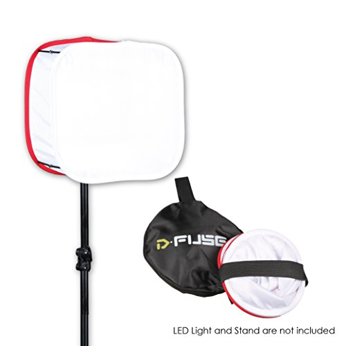 Kamerar D-Fuse Medium White LED Light Panel Softbox: 9'' x 9'' Opening, Foldable, Portable Diffuser, Carrying Bag, Strap Attachment, Photography, Photo Video (DF-1MW) by Kamerar