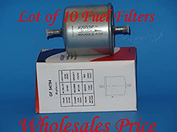 Amazon.com: (Lot of 10) GF54794 Fuel Filter Fits: Ford Isuzu ... on clark filters cross reference, pump cross reference, fuse cross reference, wiper blade cross reference, clutch disc cross reference, turbocharger cross reference, valve cross reference, sensor cross reference, brake master cylinder cross reference, condenser cross reference, piston cross reference, tie rod end cross reference, starter cross reference, brake fluid cross reference, radiator cross reference, brake shoes cross reference, impeller cross reference, heater core cross reference, brake drum cross reference, exhaust system cross reference,