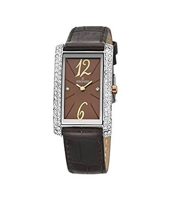 Kronos - Ladies Chocolate 918.52 - Reloj de seÑora de cuarzo - correa de piel marrÓn - color esfera: marrÓn