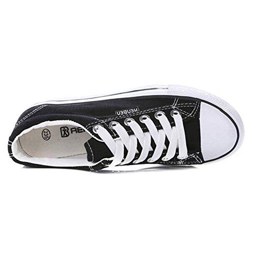Summerwhisper Donna Casual Sneakers Basse Con Plateau Stringate Con Suole Di Tela Di Nylon