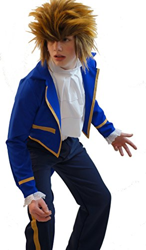 [World Book Day-Stage-Panto-Theatre-Beauty And The Beast- BEAST COSTUME- All Sizes Available (SMALL)] (Panto Costumes For Kids)
