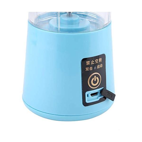 Nitrip USB portatile rosa/azzurro elettrico elettrico succo frullatore macchina succo estrattore doppia lama(Cielo blu) 6 spesavip