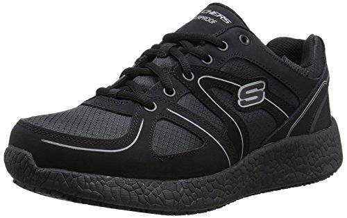 Skechers for Work Men's Burst SR Wide Work Shoe, Black, 11.5 W US