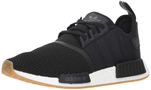 (adidas Originals Men's NMD_R1 Running Shoe, Black/Gum, 10 M US)
